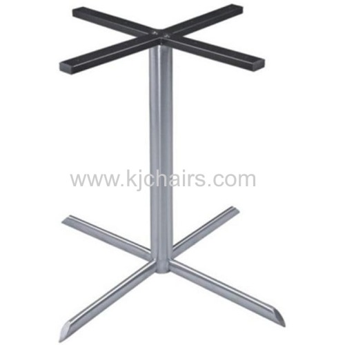 restaurant dining table with stainless steel cross table base