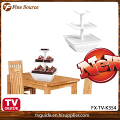 3-Tier Stand Snack Server Plastic food server