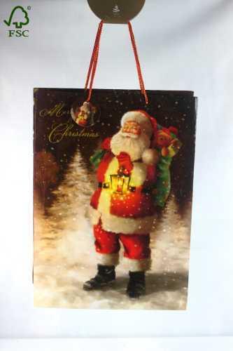 CHRISTMAS GIFT PAPER SHOPPING BAG