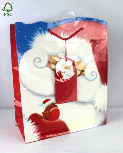 CHRISTMAS SHOPPING GIFT CARRIER BAG