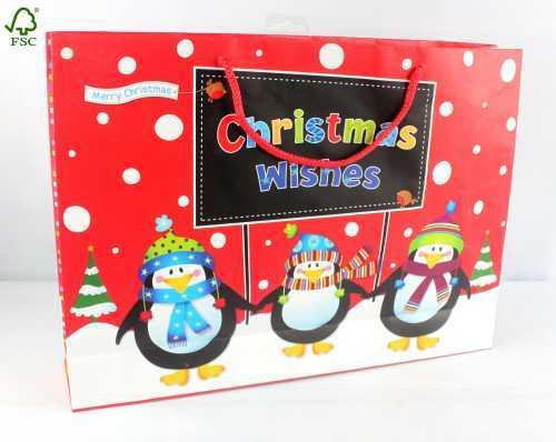 CHRISTMAS GIFT PAPER SHOPPING CARRIER BAG