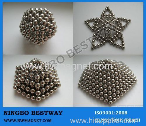 Small sphere magnets cube