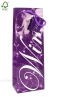 Promotional purple wholesale wine gift bags