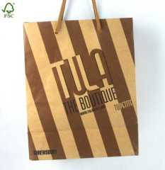 Promotional kraft paper shopping bag