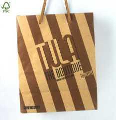 Promotional kraft paper shopping bag