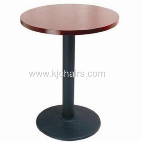 melamine top with cast iron base restaurant dining table