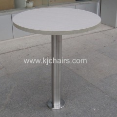 fasfood restaurant dining table with bolted table leg