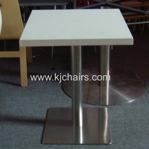 artificial stone top with stainless steel base restaurant dining table