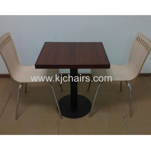 wooden edge fireproof top restaurant dining table
