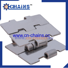 Stainless steel flat top chains 815series straight running