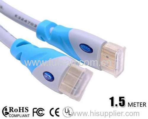 High speed good quality 1.4 version 1.5m hdmi cable with ethernet for 3D