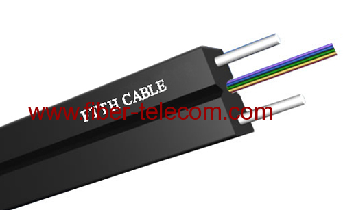 4cores FTTX Indoor Fiber Cable with FRP Strength member