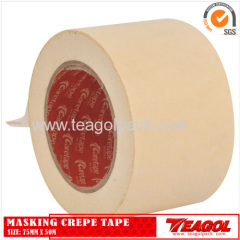 White Masking Crepe Tape 75mm x 50m
