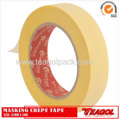 Yellow Masking Crepe Tape 25mm x 50m