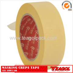 Yellow Masking Crepe Tape 38mm x 50m