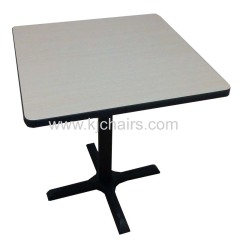 square fast food table