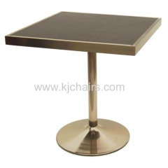 restaurant dining table melamine table top with wood edges