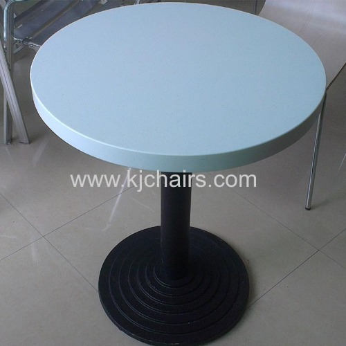 man-made marble top cast iron durable dining table