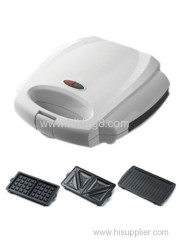 3 in 1 Sandwich maker with detachable plate