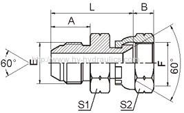 JIS gas male/ JIS gas female adapter 2S