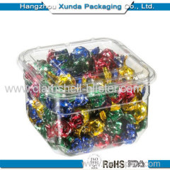 Transparent plastic candy box