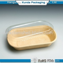 Plastic sushi container with lid