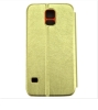 Golden luxury folio PU Leather Case for Sumsung Galaxy s5 Cover