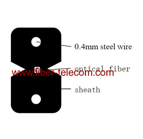 1 fiber FTTx Fiber Cable with Steel Wire strength member