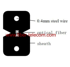 2-kern FTTH Indoor-kabel met 0.4mm Steel Wire sterktelid