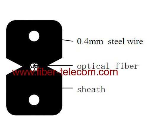 4fibers Fiber To The X SM Fiber Optical Cable