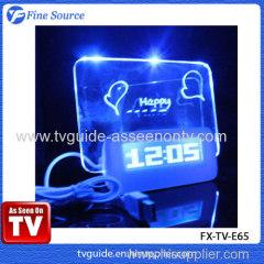 LCD Message Board Clock Fluorescence electronic clock