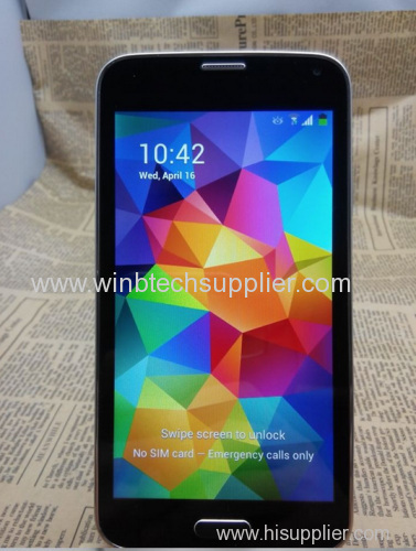 "2014 mobile phones 1:1 5.1 inch S5 phone mtk6582 Quad Core 1.6GHz 2GB RAM 13MP i9600 g900 Smartphone 5"" 3G WCDMA"