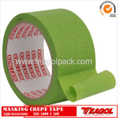 Crepe Paper Tape Light Green Color 50mm x 20m