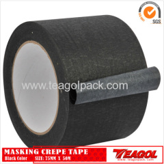 Crepe Paper Tape Black Color 75mm x 50m