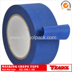 Crepe Paper Tape Dark Blue Color 50mmx 50m