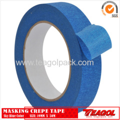 Crepe Paper Tape Sky Blue Color 19mmx 50m