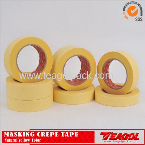 Креп-бумага краска ленты промышленного назначения желтого цвета, 50 м/рулон