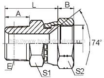 BSPT MALE/ JIC female 74° seat Fittings