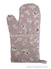flower pink Oven Mitt