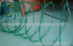 Painting razor barbed wire concertina razor wire