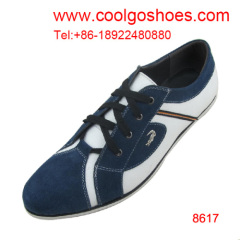 Lace up flat casual men loafers made in China