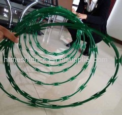 cheap painted razor wire mesh painting razor wire fencing