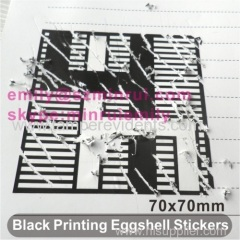 Egg Shell Stickers Custom