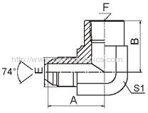 90° JIC male 74° cone/ BSPT female Fittings 5JT9