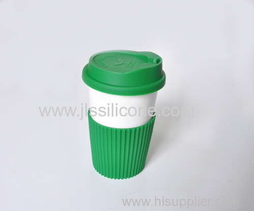 Reusable coffee cup wrapper