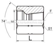 JIC female 74° seat/ NPT female Adapters