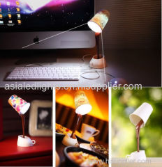 USB DIY 8 LED Coffee Cup Mug Lamp Light Energy Saving Room Table Decoration Gift
