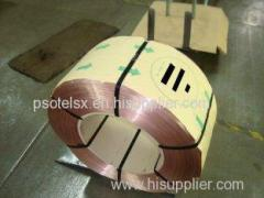 Brass-plated 98.3% Cu Mild Steel Wire Robber Hose Reinforcement for Machinery 0.96mmHT