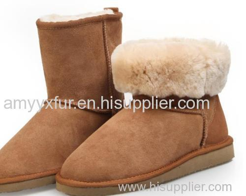 sheepskin long wool boot