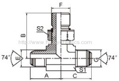 JIC male/SAE o-ring boss / JIC male Fittings